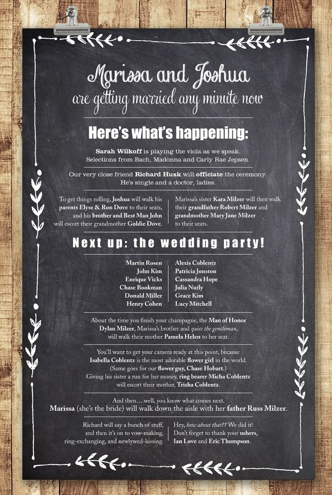 The 25 best Wedding programs wording ideas on Pinterest