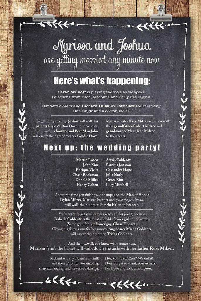 17 Best Ideas About Wedding Programs Wording On Pinterest