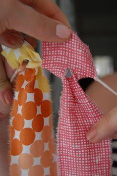 Fabric Strip Backdrop