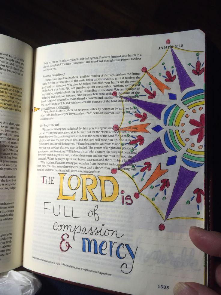 James 5:11 Sherrie Bronniman - Art journaling: In My Bible