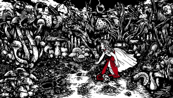 Alice in the Black Forest by Paintedbrain , via Behance