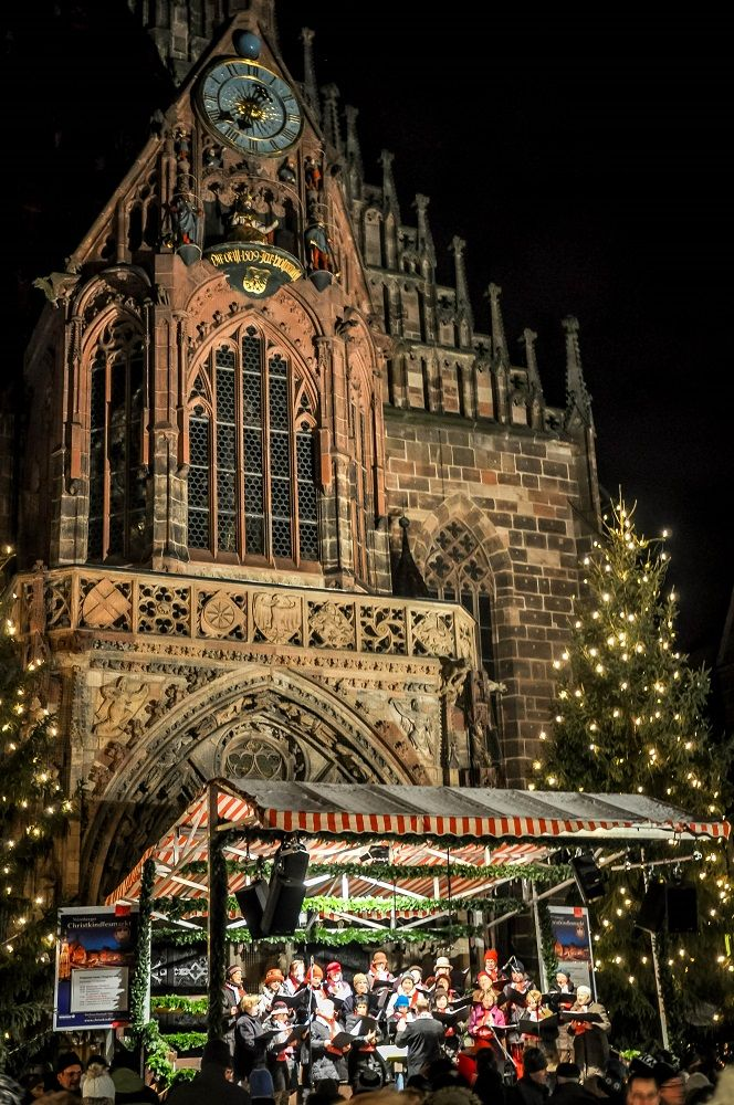 Choir and instrumental performances of Christmas music adds to the wonderful atmosphere at the European Christmas markets