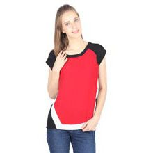 A good gift for girlfriend: Color Blocked Short Sleeved Tee