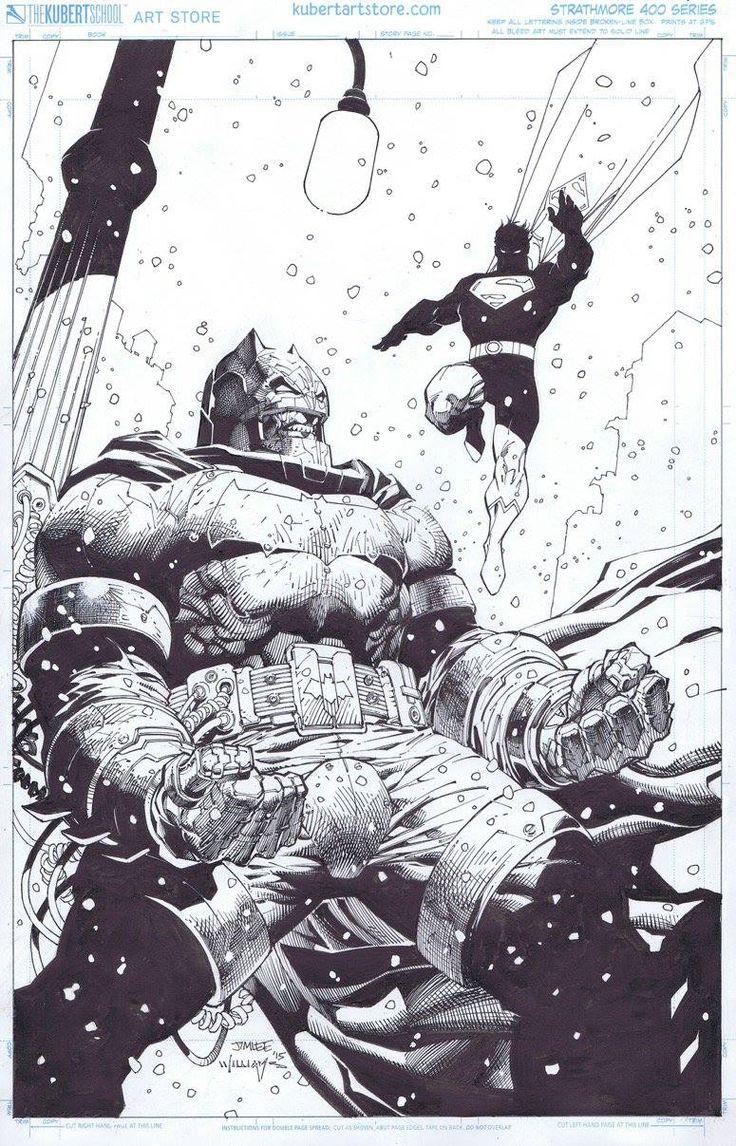 DARK KNIGHT III: THE MASTER RACE #2//Covers and Splashes/Jim Lee/ Comic Art Community GALLERY OF COMIC ART