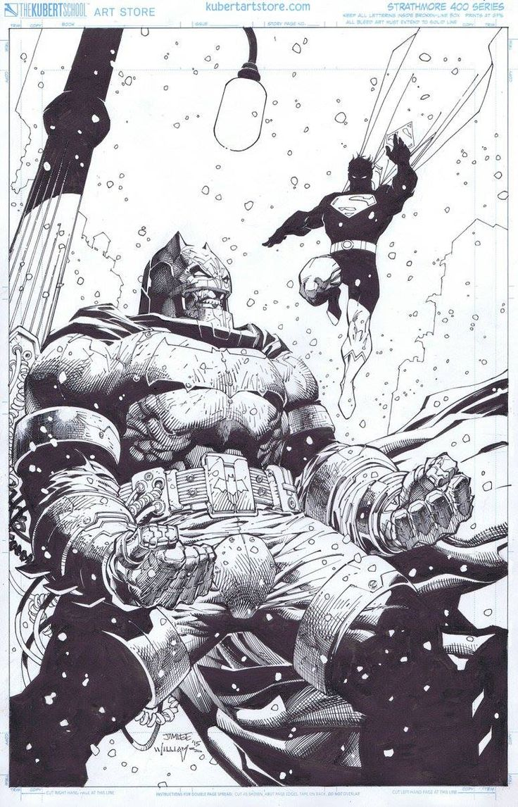 DARK KNIGHT III: THE MASTER RACE #2//Covers and Splashes/Jim Lee/ Comic Art Community GALLERY OF COMIC ART