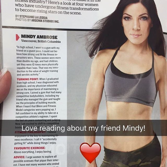 Check out my beautiful friend @mindylouambrose in the latest issue of @insidefitnessw Inside Fitness Women! #fitfactor #fitfamily #friends