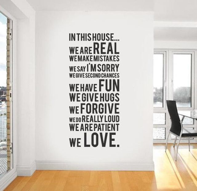 decoration: Wall Art, Future Houses, Vinyls Wall Stickers, Quote, Vinyls Wall Decals, In This Houses, Houses Rules, Families Rules, Families Mottos