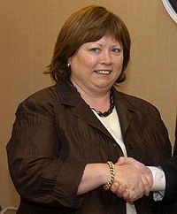 Mary Harney (born 11 March 1953) is an Irish former politician. She served as Tánaiste from 1997–2006, Minister for Enterprise, Trade and Employment from 1997–2004, and as Minister for Health and Children from 2004 to 2011. She also served as a Teachta Dála (TD) for the Dublin Mid–West and Dublin South–West constituencies from 1981 to 2011.