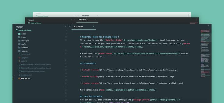 Material Theme for Sublime Text 3 3085+