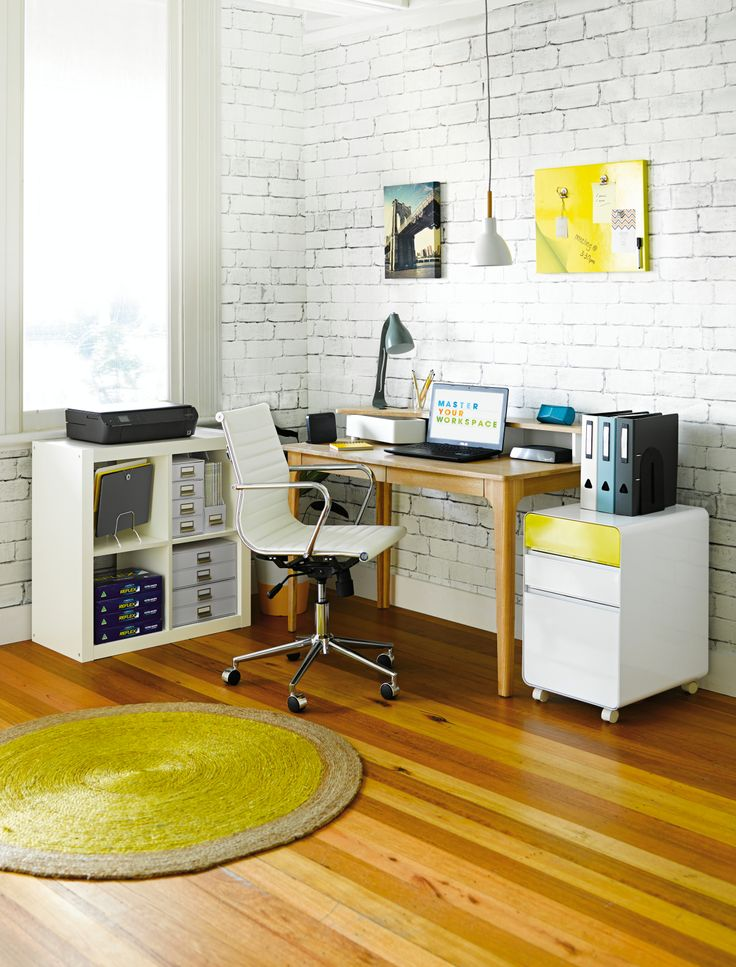 Brighten up your workspace with something yellow.