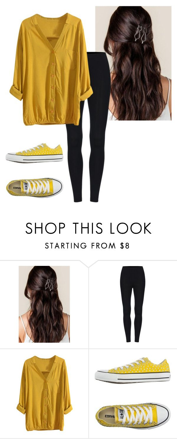 """""""Yellow Junior's Outfit"""" by jsw57829 on Polyvore featuring Converse"""