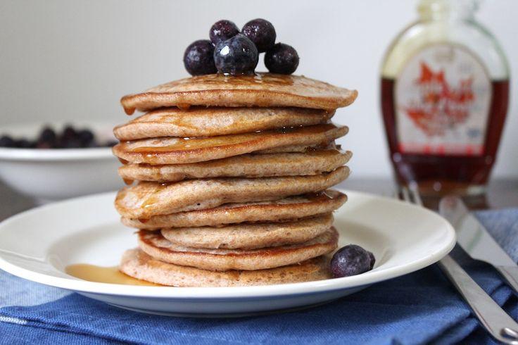 Fluffy eiwit spelt pancakes