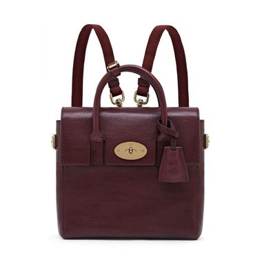 Mulberry - Mini Cara Delevingne Bag in Oxblood Natural Leather