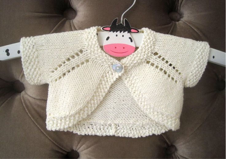 Fabulously quick and easy to knit - this newborn size only took me 110m of yarn!! The perfect cover-up for a baby this summer. Pattern also includes instructions to knit with long sleeves if preferred and also comes in 7 sizes from newborn - 6 years.