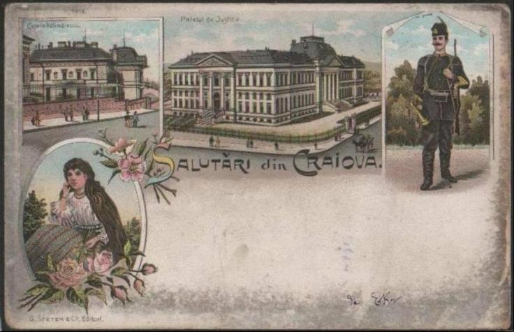Craiova - Palatul de justitie anii 1900