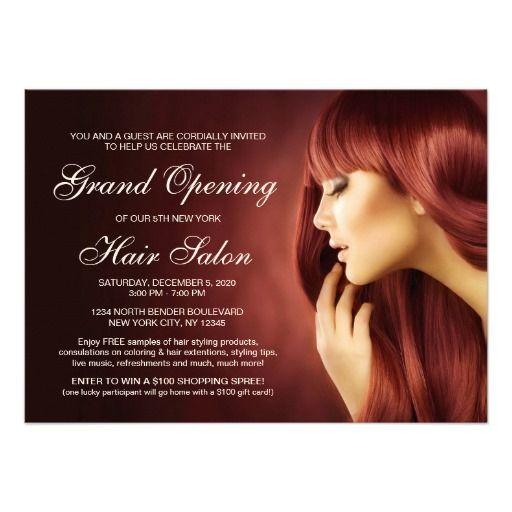 hair salon grand opening invitation templates
