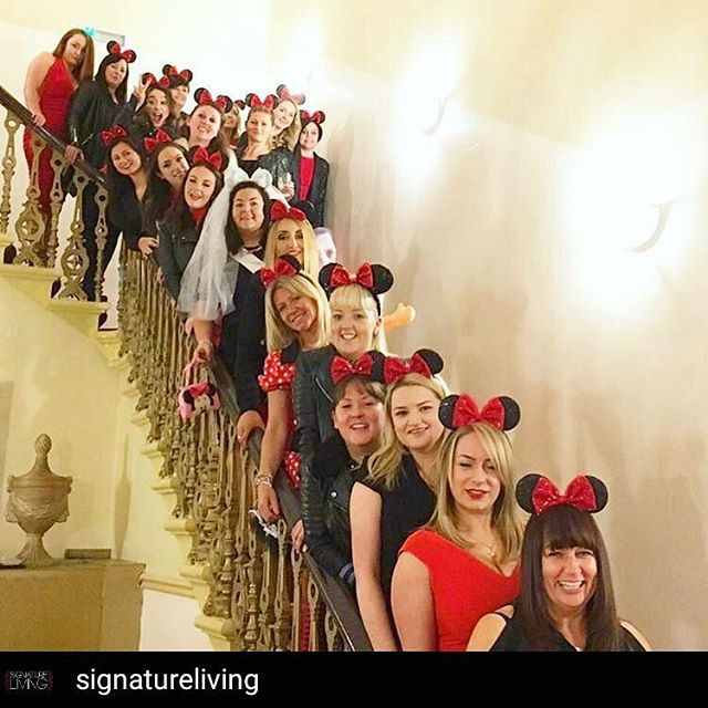 Perfect for our Minnie Monday ❤ group shot of our Minnie ears and veil  @Regrann from @signatureliving -  Minnie Mouse Hen Party last night in our Iconic Party Apartment, looking fab ladies  #signatureliving #liverpool #friends #party #weekend #jacuzzi #cocktails #fun #giggles #laughs #instafun #love #celebrate #shots #makingmemories #hendo #henparty #henweekend #girls #girlsnight #girlsnightout #bridetobe #hen #hens #disney #minniemouse