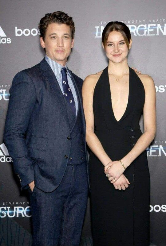 Shailene Woodley and Miles Teller NYC Insurgent Premiere