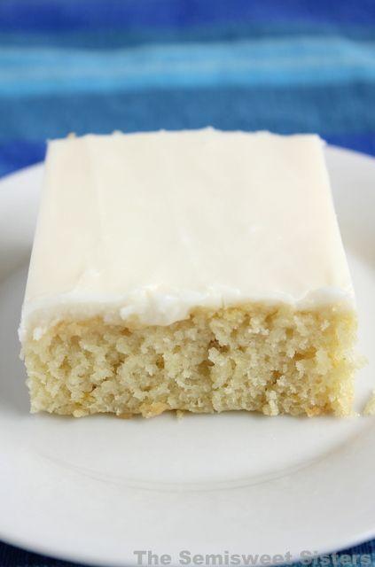 White Texas Sheet Cake, super moist!