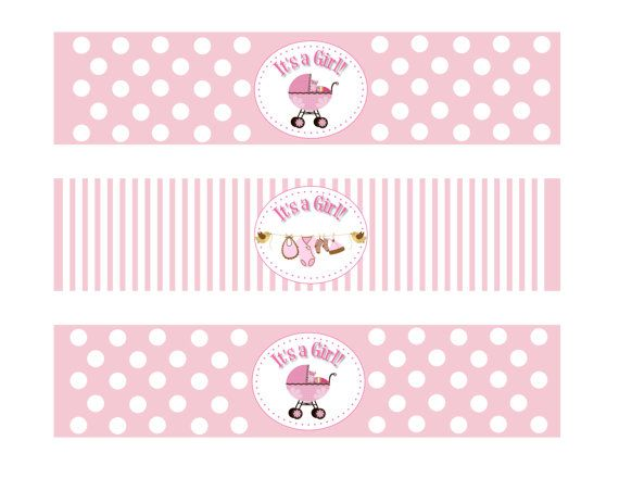 The 8 best images about baby girl on Pinterest Baby showers - free baby shower label templates
