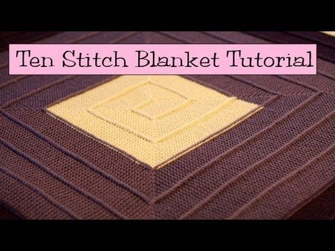 Ten Stitch Blanket Tutorial ... Part of this tutorial is about joining two edges with a pickup and slip stitch over for a single stitch decrease. ... There are other versions of this construction technique available on Ravelry.