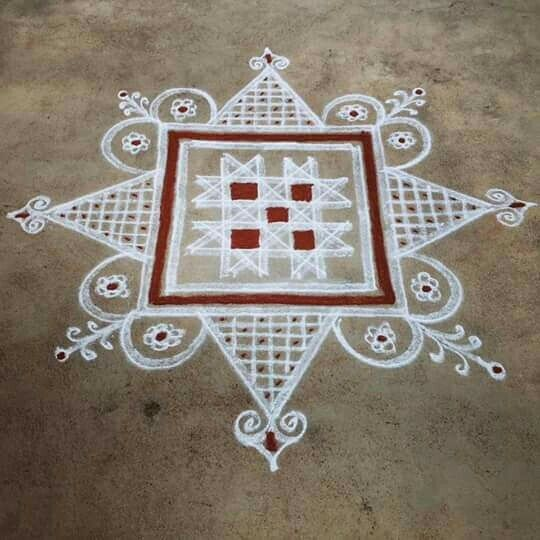 137 best images about kolam and rangoli on pinterest for Floor rangoli design