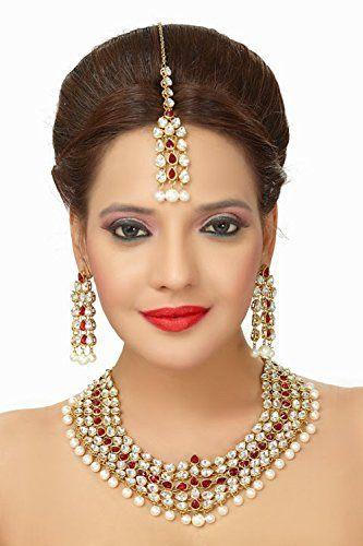 Stunning Red Stone Indian Bollywood Kundan Wedding Wear N... https://www.amazon.com/dp/B01MYB6NG2/ref=cm_sw_r_pi_dp_x_YbEHyb3GXWWY5