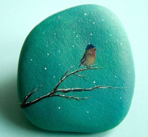 Painting on stone by Yana Khachikian I just had to pin this scroll down & see her beautiful work . wish I could paint like this