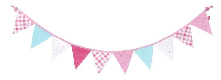 Vlaggenslinger Fien van lief! lifestyle: decoratie voor de meisjeskamer en helemaal van nu! #kinderkamer