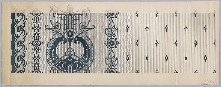 Carpet Design by M.D. Renssen, 1900 / 1919. Deventer Musea, CC BY-SA