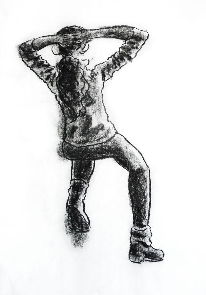 Beatriz Lopes. Carvão s/ papel, 59,4 x 42 cm