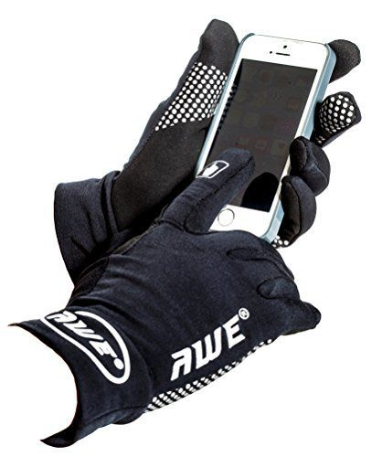 AWE® AWESprint™ TOUCHSCREEN Running Cycling Lightweight Glove Black Medium AWE® Bike Accessories offers one of the most comprehensive ranges of bike accessories available today. With a strong high street brand presence, it has become a sought after brand in the cycling market. Their diverse product range includes lights, helmets, locks, pumps, saddles, reflective gear, Tyres & Tubes and much moreTOUCHSCREEN: Smart Touchscreen Design On the Fingertip of Forefinger And