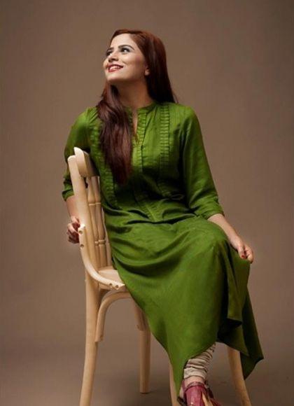 Green Kurta with Churidaar