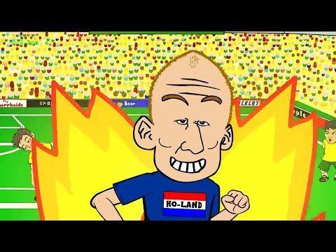 ▶ AUSTRALIA v HOLLAND 2-3 by 442oons (World Cup 2014 Cartoon Robben Goal 18.6.14) - YouTube