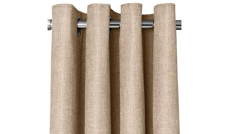 Add a touch of neutral style to any room with these textured weave curtains from George Home. These eyelet curtains are easily fitted to any curtain pole, an...