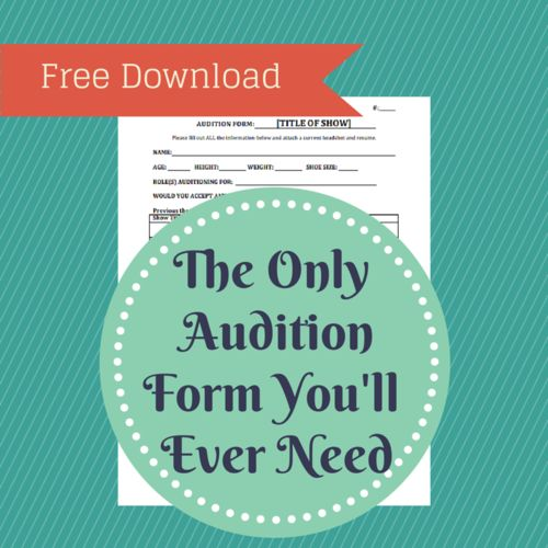 45 best stage management images on Pinterest Stage management - audition form