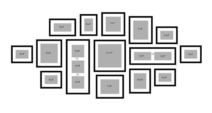 Frame Wall Collage Layout Ideas, family photo collage frames - 8 ...