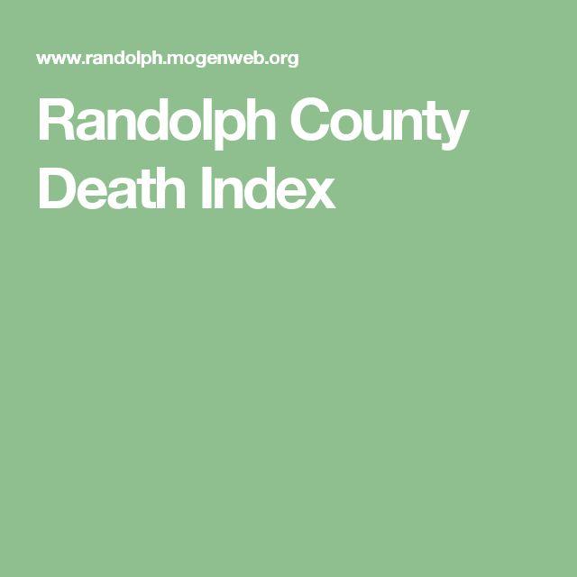 Randolph County Death Index