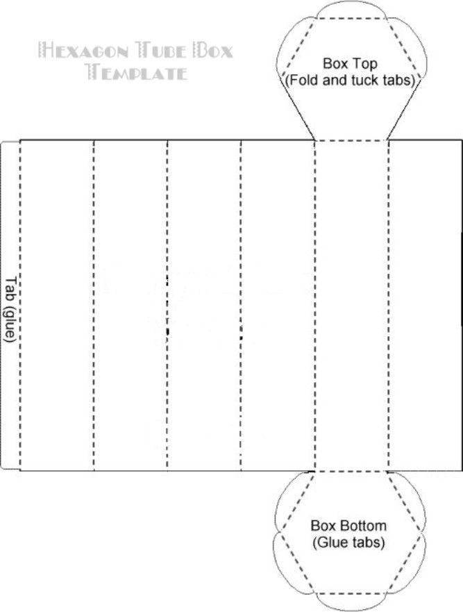 HexagonTubeBoxTemplate Downloadable templates for boxes envelopes etc. good source.  sc 1 st  Pinterest & 50 best Project 7 images on Pinterest | Boxes Gift box templates ... Aboutintivar.Com