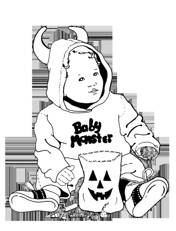 37 best coloring pages images on Pinterest Coloring pages - new baby halloween coloring pages