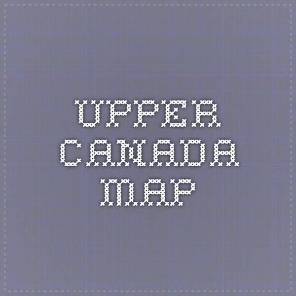 Upper Canada Map