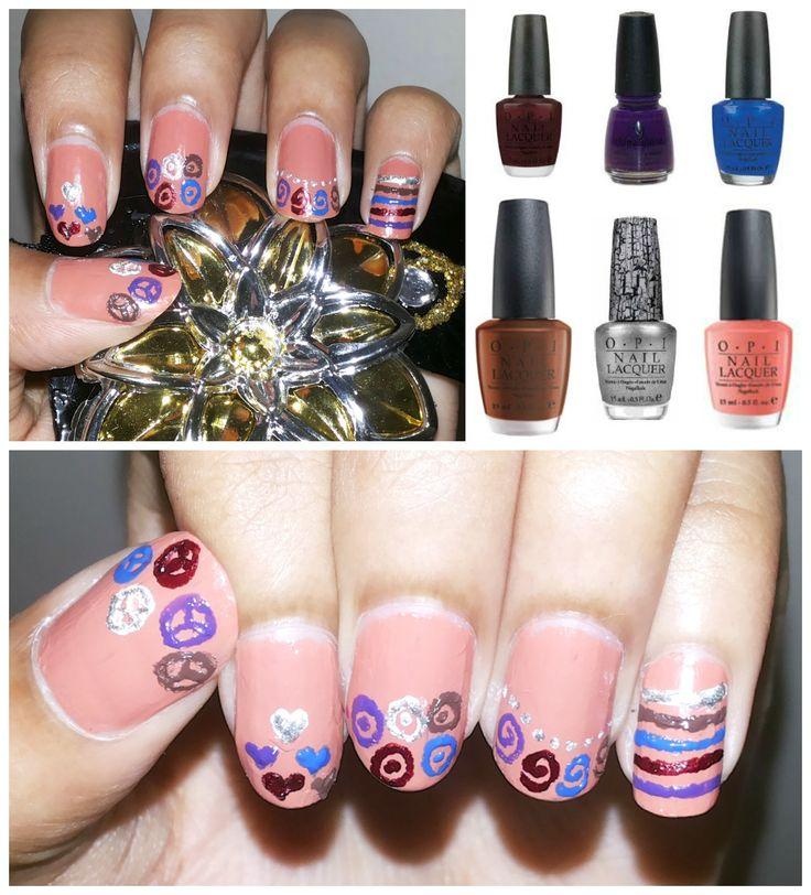 Shapes and Lines nail art