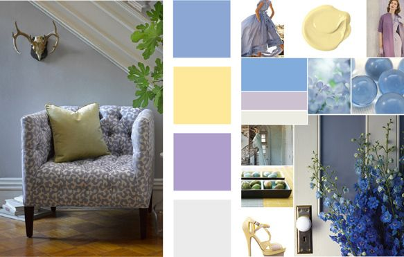Robert Allen fabrics / Hostess - Iris Color Palette