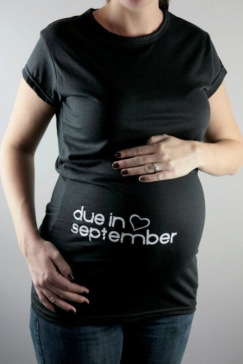 maternity due date tees :)