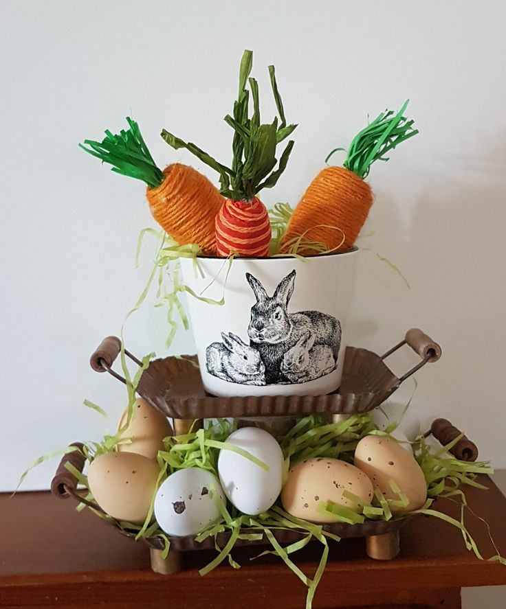 Easter decor with diy carrots