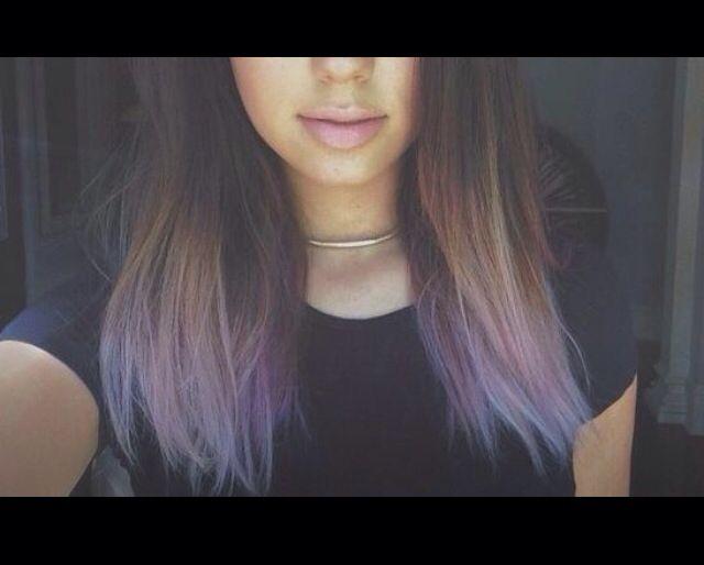 Lavender dipped hair