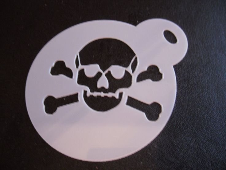 Unique bespoke new laser cut skull & crossbones cookie / face painting…