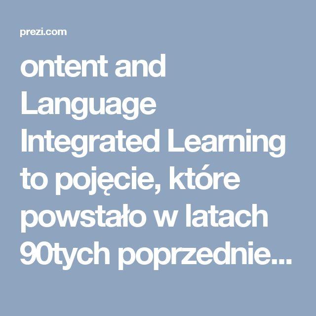 ontent and Language Integrated Learning to pojęcie, które powstało w latach 90tych poprzedniego stulecia i właśnie na stałe wchodzi do kanonu nauczania języka angielskiego na całym świecie. Głównym założeniem CLIL - Zintegrowane nauczanie języka i przedmiotu . jest zdobywanie nowej wiedzy i jednoczesne obcowanie z językiem obcym, uczenie się i używanie go. Nauczanie przedmiotu może nie mieć nic wspólnego z językiem wykładowym, jak na przykład lekcje historii odbywające się w Hiszpanii i…