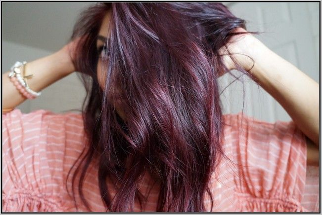 burgundy plum hair diy