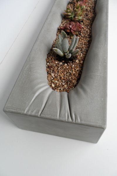 "Fabric formed 36"" planter http://patriciaalberca.blogspot.com.es/"